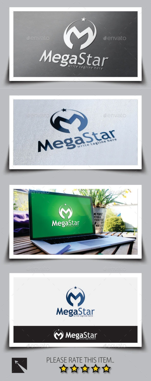 Star Letter (M) Logo Template - Letters Logo Templates