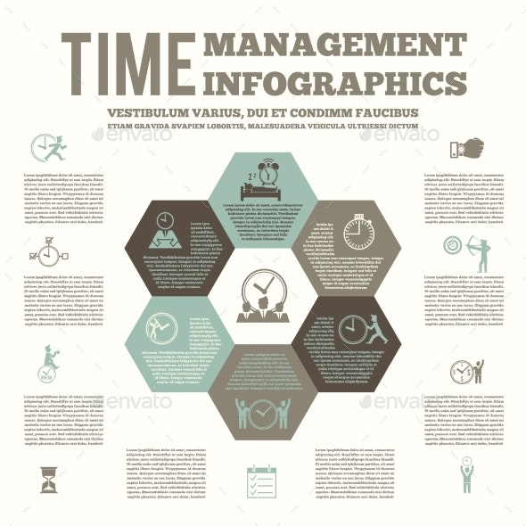 Time Management Infografic Poster - Industries Business