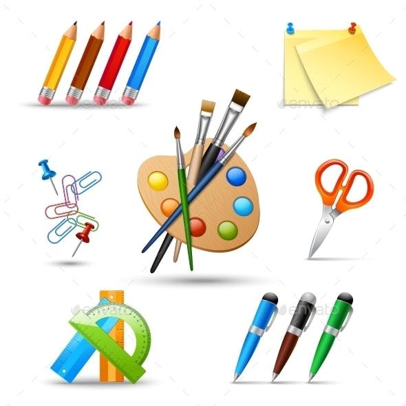 Paint Tools Set - Web Elements Vectors