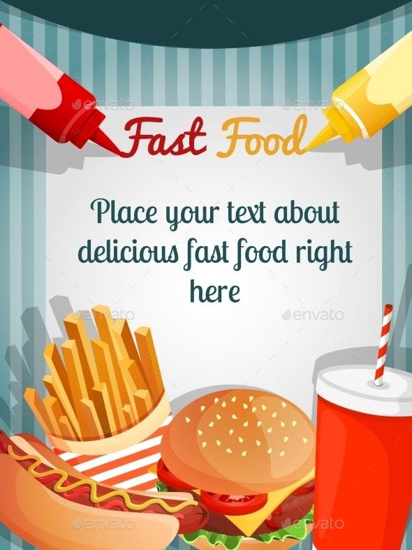 Fast Food Menu Poster - Backgrounds Decorative