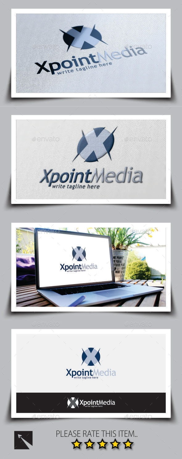 Xpoint Letter (X) Logo Template - Letters Logo Templates