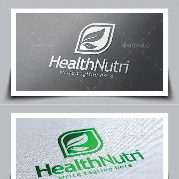 Healthy Nutrition Logo Template