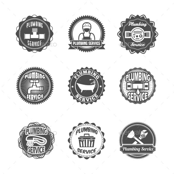 Plumbing Service Labels