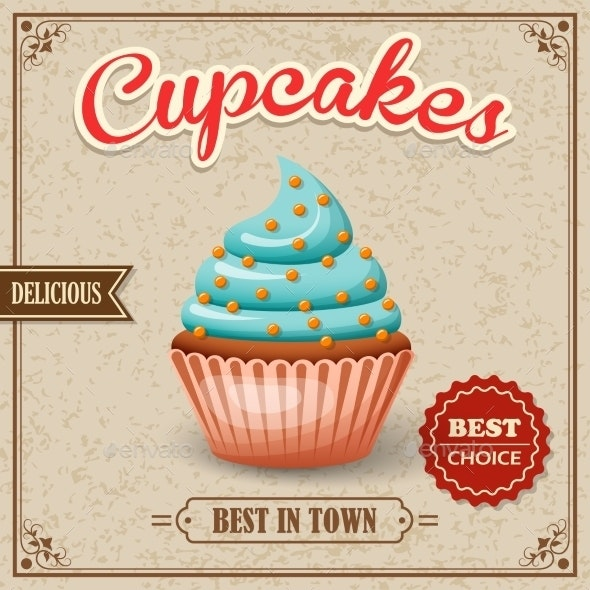 Cupcake Cafe Poster - Food Objects