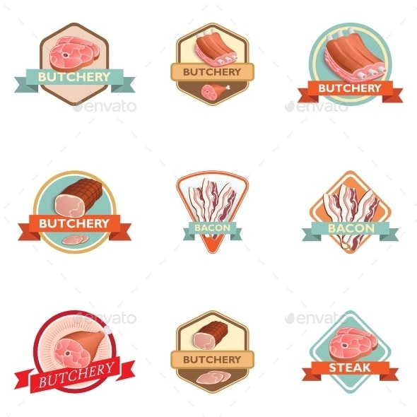 Meat Label Retro - Food Objects
