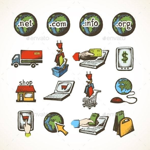 Internet Shopping Icons - Retail Commercial / Shopping