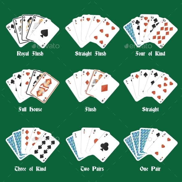 Poker Hands Set - Sports/Activity Conceptual