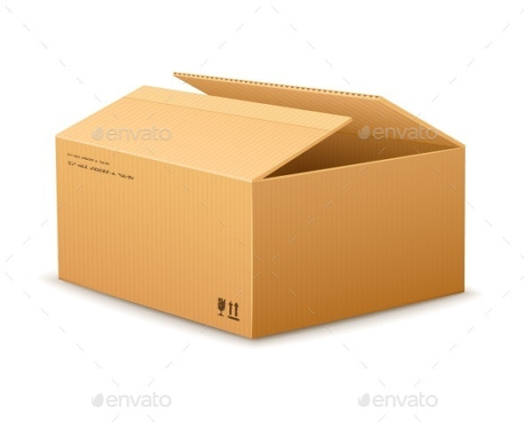 Opening Cardboard Delivery Packaging Box  - Man-made Objects Objects