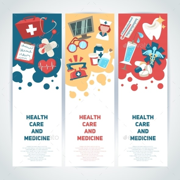 Medical Vertical Banners - Backgrounds Business