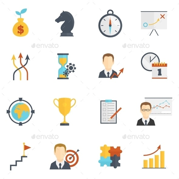 Business Strategy Planning Icons - Business Icons