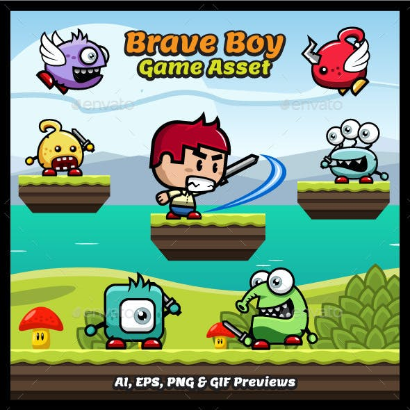 Brave Boy Game Asset