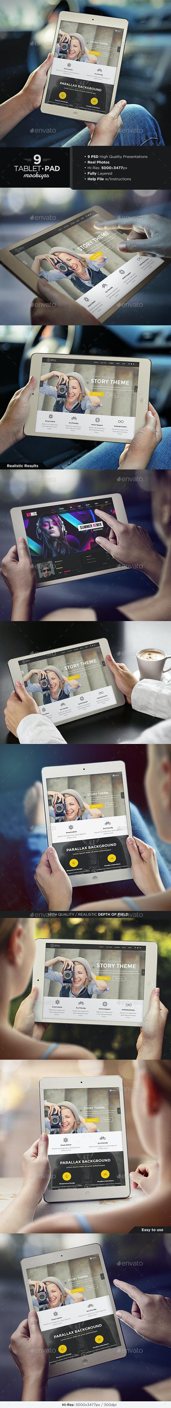 Tablet / Pad Mock-Up Set - Mobile Displays