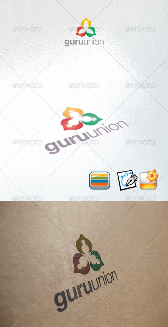 Guruunion - Humans Logo Templates