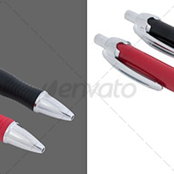 Black and Red Pen