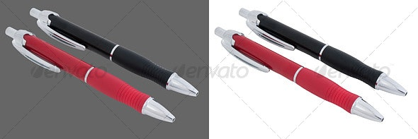 Black and Red Pen - Home & Office Isolated Objects