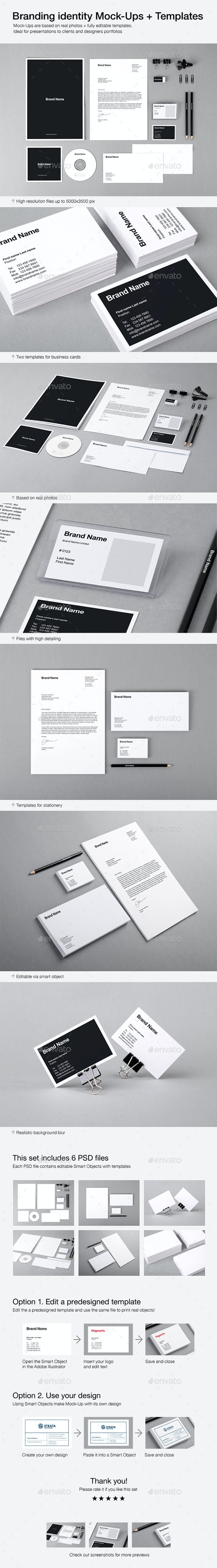 Branding Identity Mock-Ups and Templates - Stationery Print