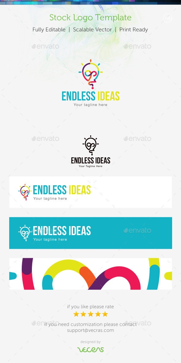 Endless Ideas Stock Logo Template - Abstract Logo Templates
