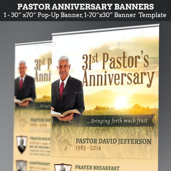 Pastor Anniversary Harvest Banner Template