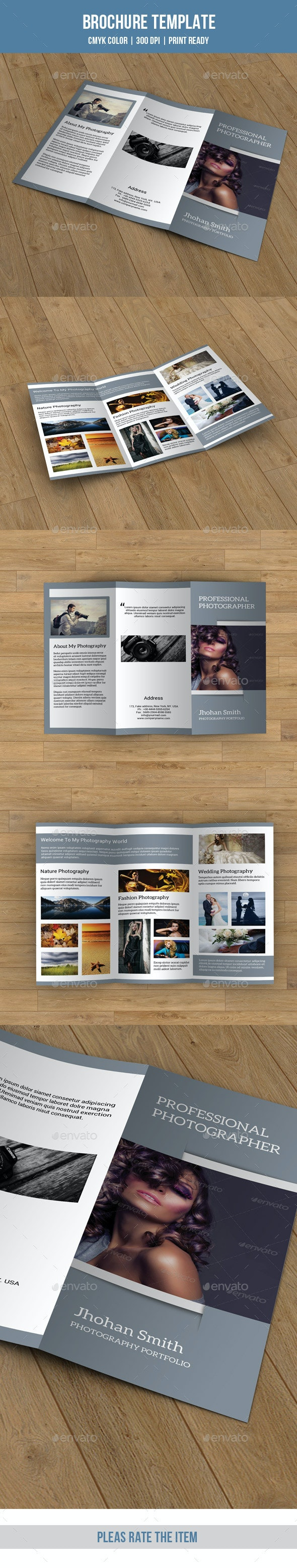 Trifold Brochure for Photography-V68 - Corporate Brochures