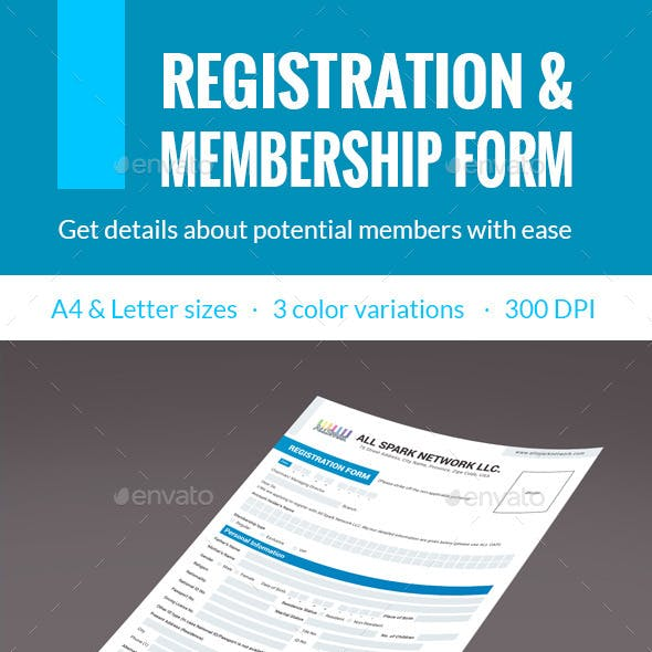 Membership & Registration Form