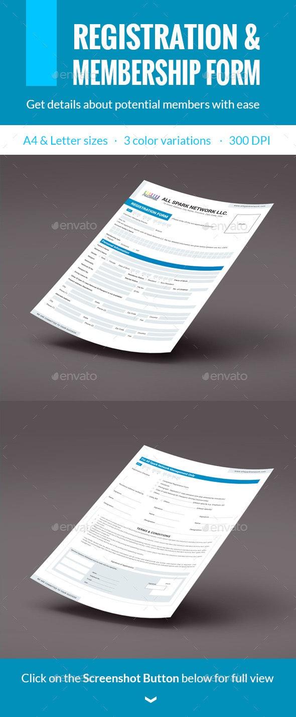 Membership & Registration Form - Miscellaneous Print Templates