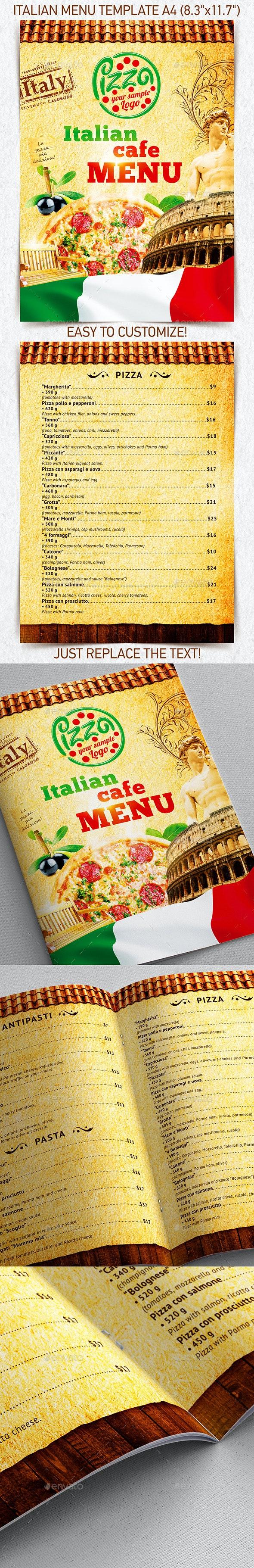 Italian Menu Template vol.2