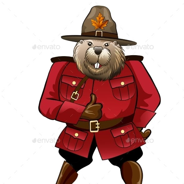 Beaver in Canadian Ranger Suit
