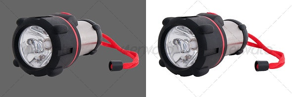 LED Flashlight - Home & Office Isolated Objects