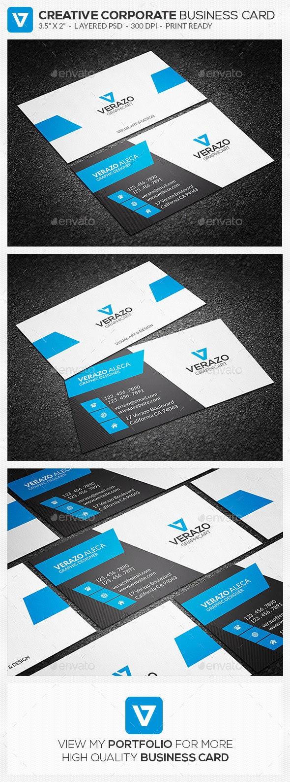 Creative Corporate Business Card 60 - Corporate Business Cards