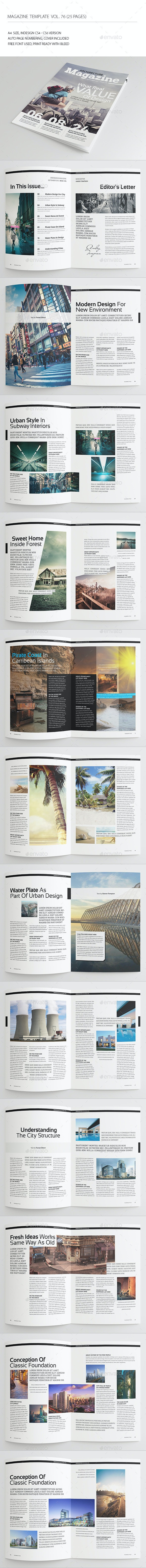 25 Pages Architect Magazine Vol76 - Magazines Print Templates