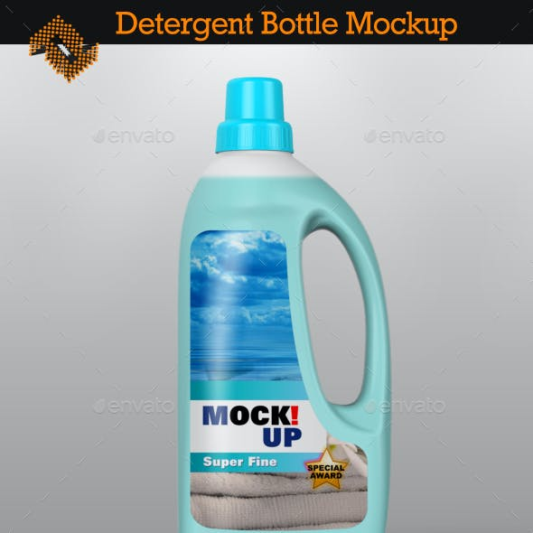 Detergent Bottle / Softener Bottle Mockup