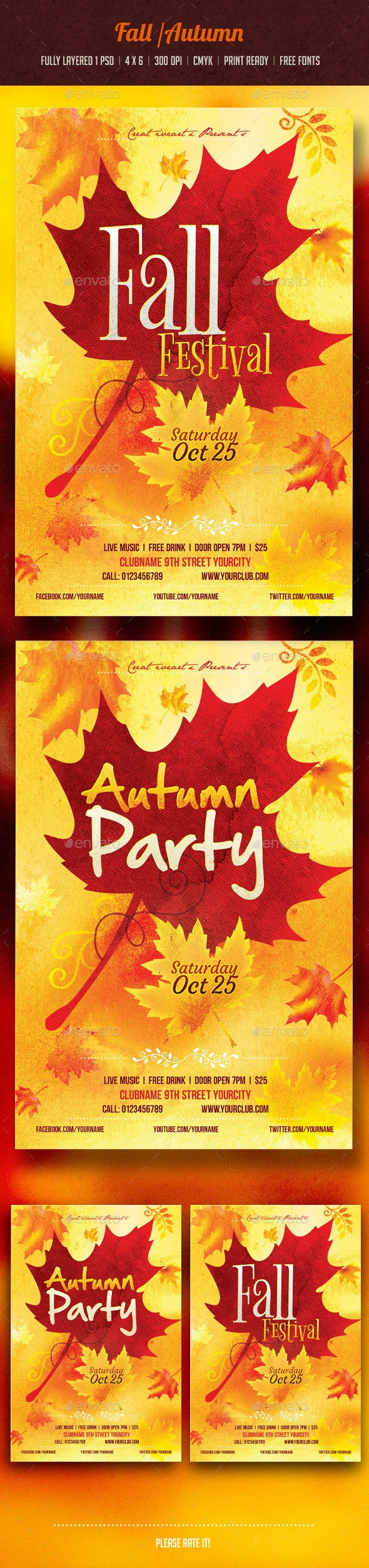 Autumn / Fall Flyer - Events Flyers