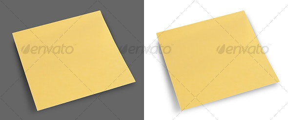 Yellow Sticky Note - Home & Office Isolated Objects
