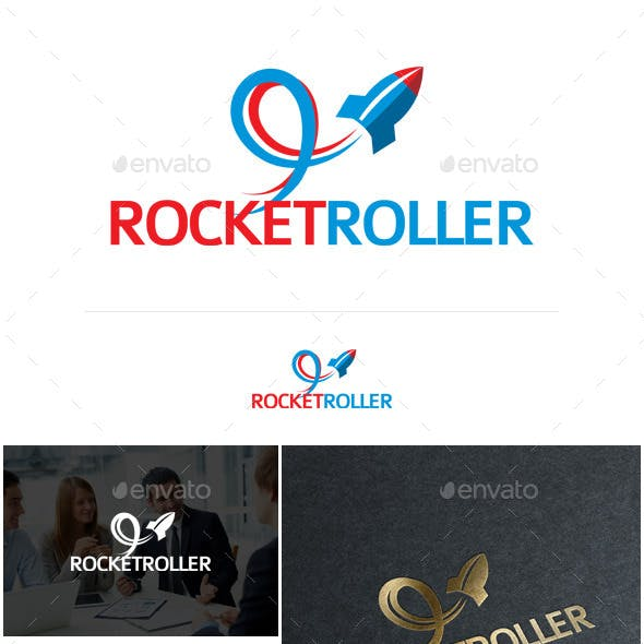 Rocket Roller Logo Template