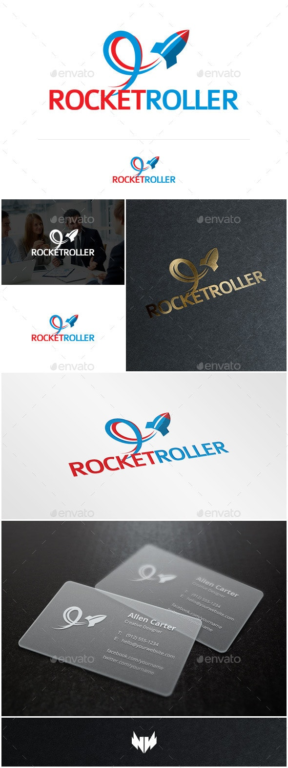 Rocket Roller Logo Template - Objects Logo Templates