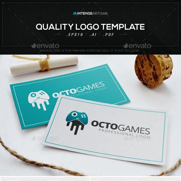 Octo Games Logo Template