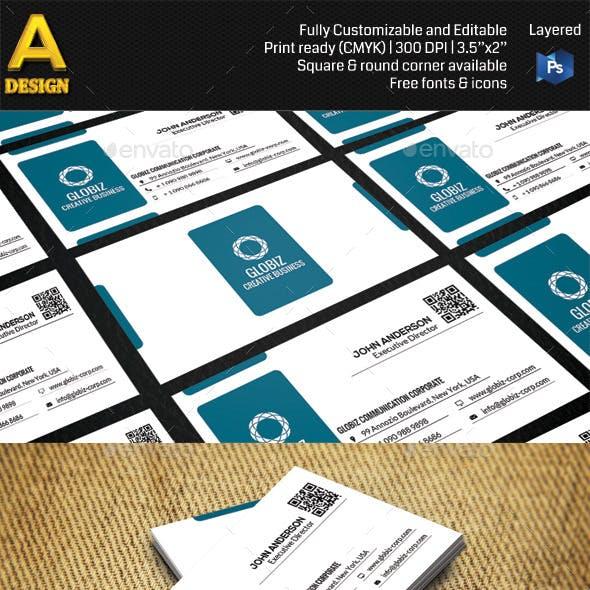 Modern Corporate Business Card AN0486