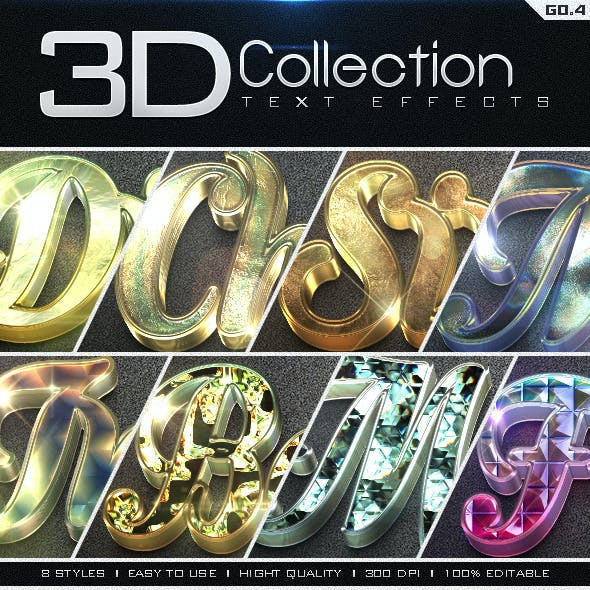 3D Collection Text Effects GO.4
