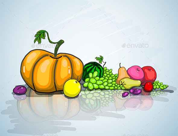 Autumn Still Life - Organic Objects Objects