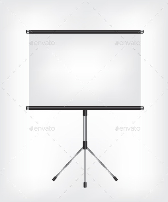 Blank Projection Screen - Concepts Business