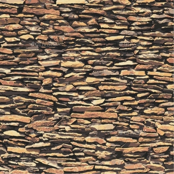 Stone Wall Vector Texture - Backgrounds Decorative