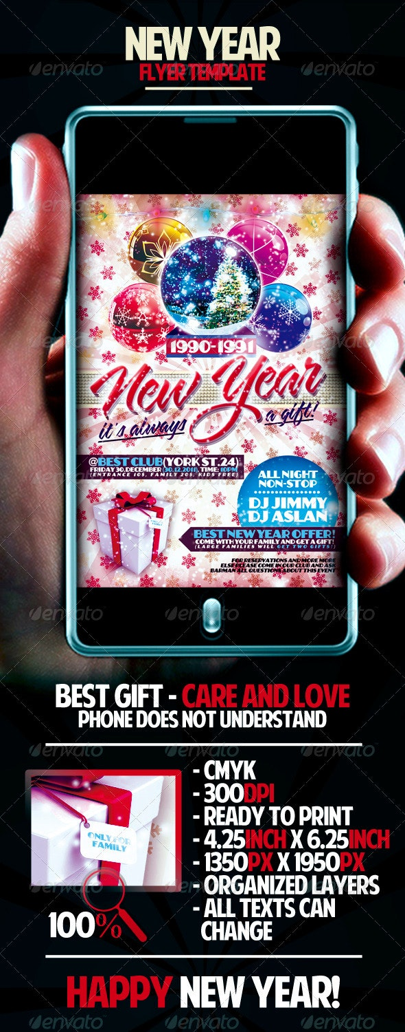 New Year Flyer Template - Clubs & Parties Events