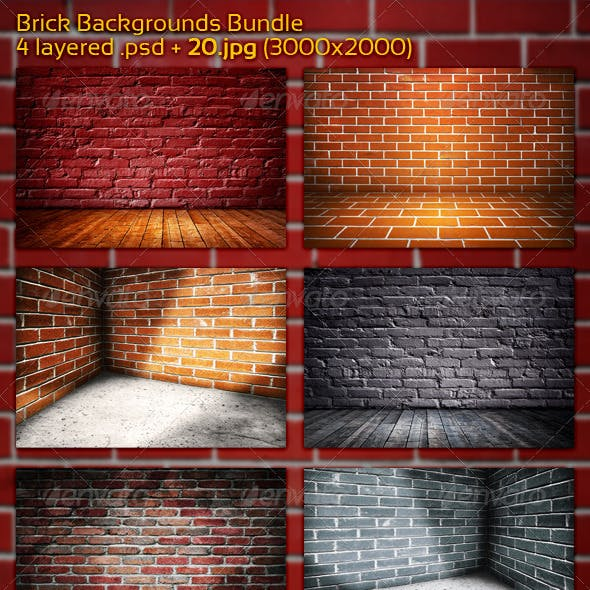 Brick Backgrounds Bundle
