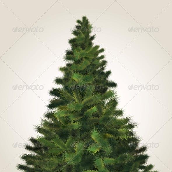 Vector Fluffy Christmas Tree