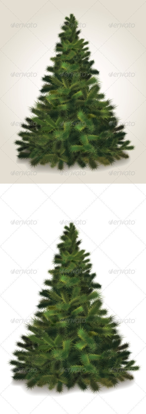 Vector Fluffy Christmas Tree - Miscellaneous Characters