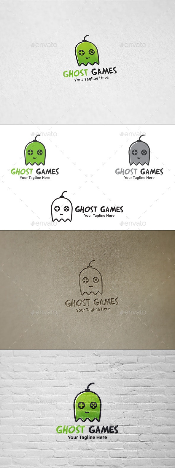 Ghost Games - Logo Template - Humans Logo Templates