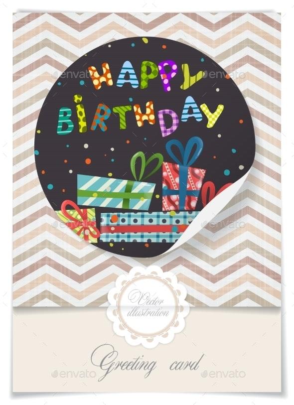 Greeting Card Design, Template - Birthdays Seasons/Holidays