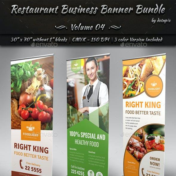Restaurant Business Banner Bundle | Volume 4