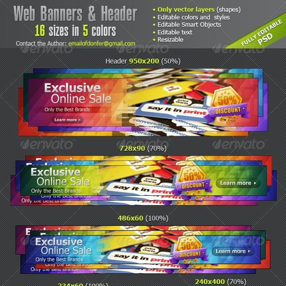 Web Banners Ads & Website Header
