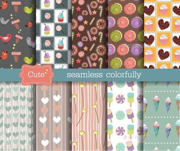 Cute Seamless Patterns - Patterns Decorative